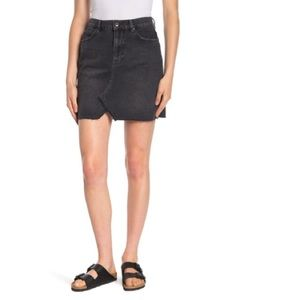 FREE PEOPLE Hallie Denim Skirt NWT 29 Washed Black